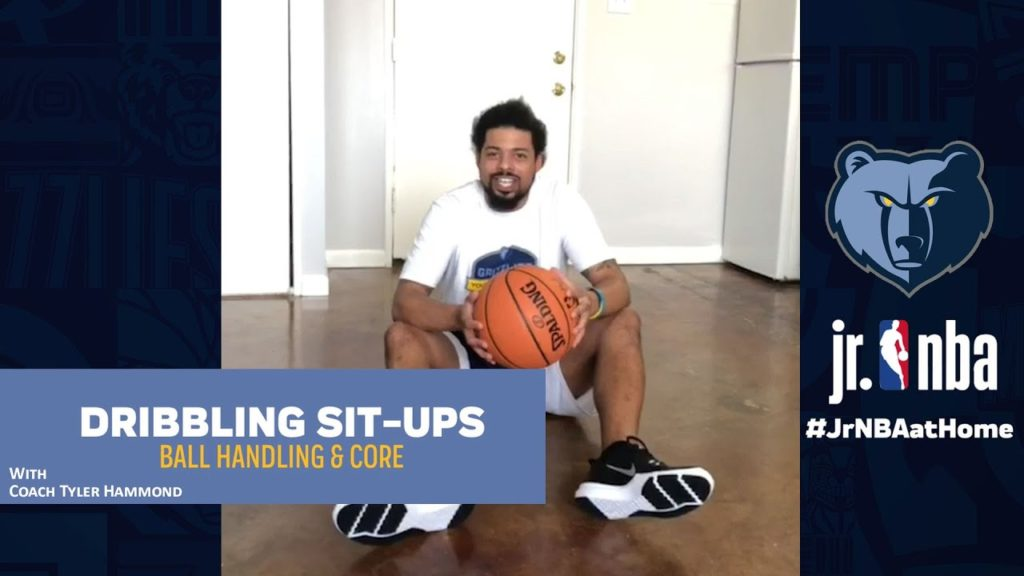Dribbling Sit-Ups Workout | Strength & Conditioning | Jr. NBA at Home