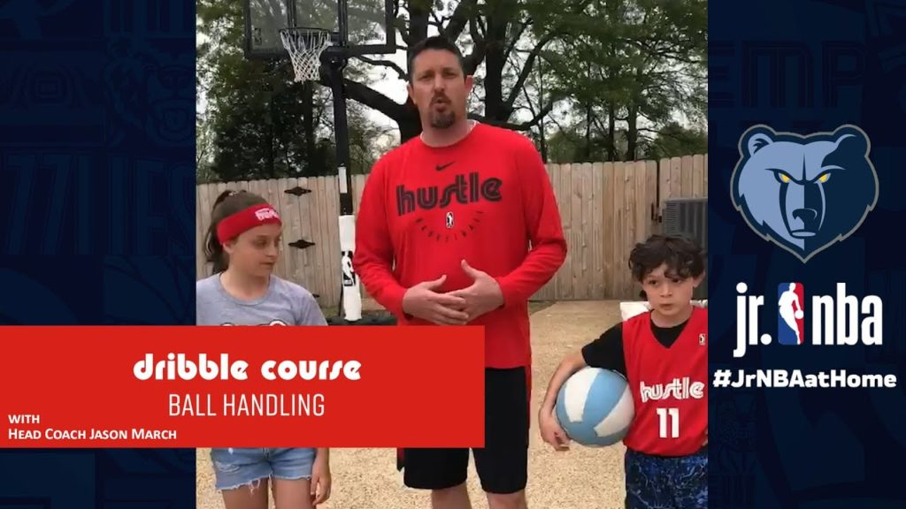 Memphis Hustle Dribble Course | Basketball Handling Tutorials | Jr. NBA at Home