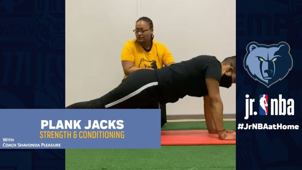 Plank Jacks Drill | Strength & Conditioning | Jr. NBA at Home