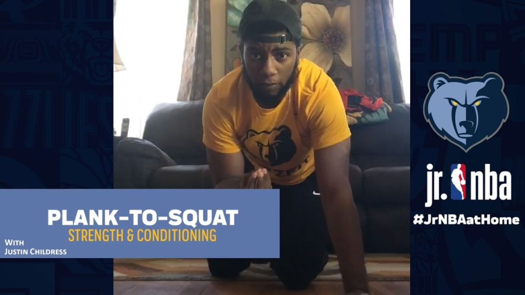 Plank-to-Squat Workout | Strength & Conditioning Tutorials | Jr. NBA at Home
