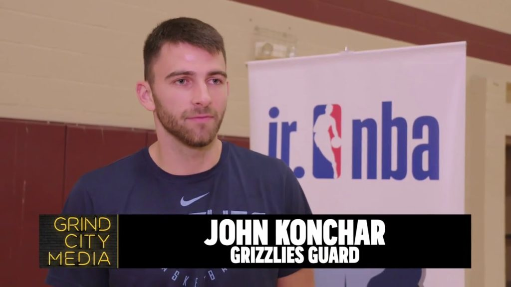 John Konchar attends Grizzlies Youth Basketball Clinic | 2019 Regional Caravan Tour Finale