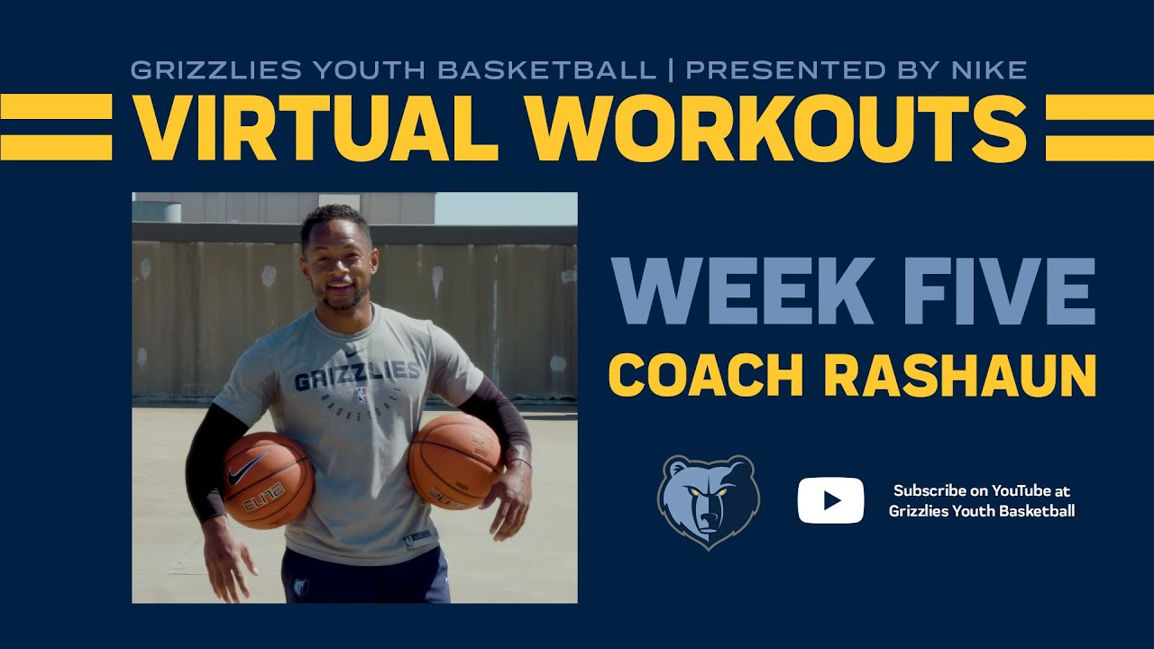 Grizzlies Youth Basketball Virtual Workout #5 - ft. Coach Rashaun Broadus | presented by Nike