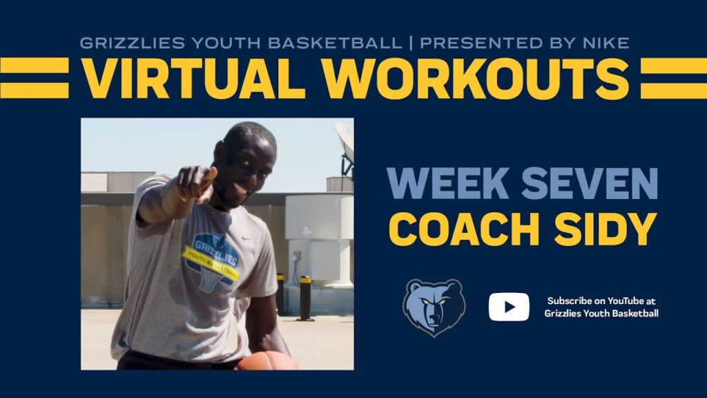Grizzlies Youth Basketball Virtual Workout #7 - ft. Coach Sidy | Presented by Nike