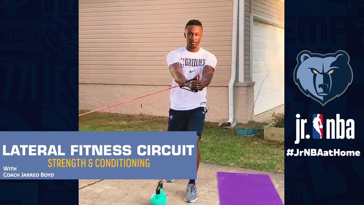 Lateral Fitness Exercises | Strength & Conditioning Drills | Jr. NBA at Home