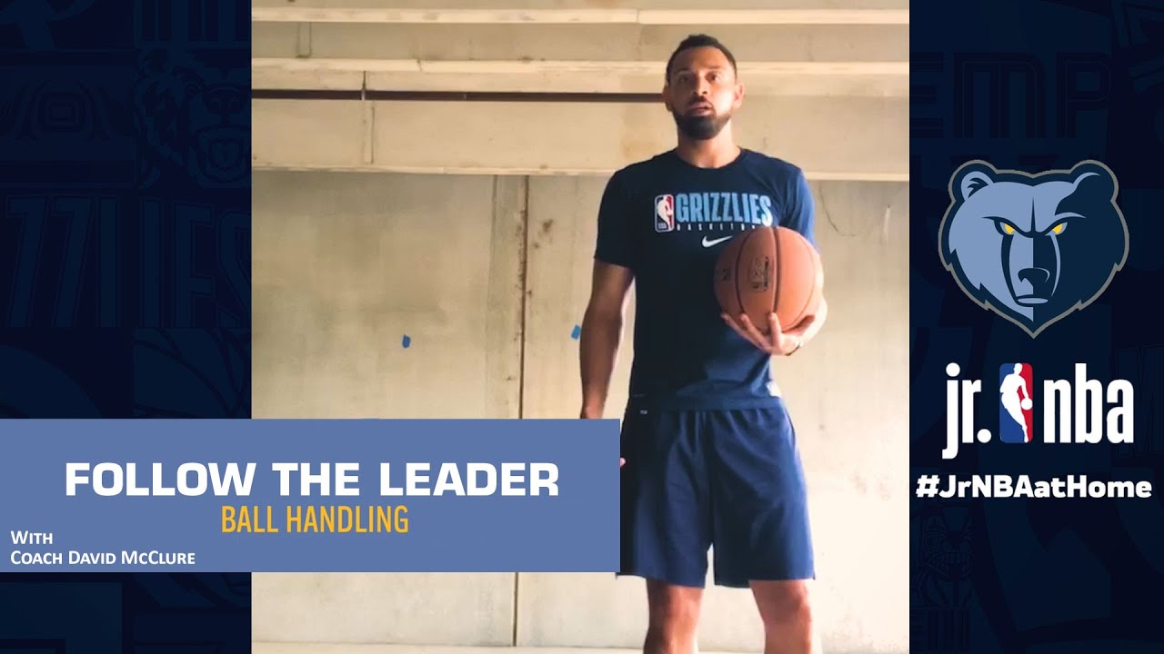 Follow-The-Leader Dribbling Drill | Basketball Dribbling Tutorials | Jr. NBA at Home
