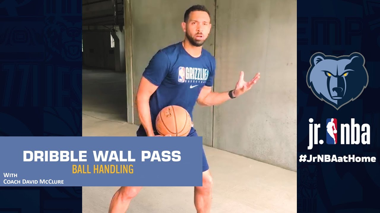 Wall Passing Drill w/ Coach McClure | Basketball Dribbling Tutorials | Jr. NBA at Home